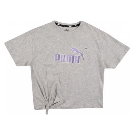 PUMA Tričko šedý melír / světle fialová