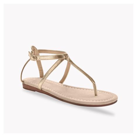 Blancheporte Sandály s páskem mezi prsty, zlaté zlatá