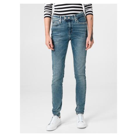 011 Mid Rise Skinny Jeans Calvin Klein Modrá