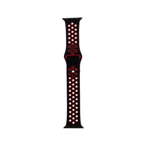 Tactical Double Silikonový řemínek pro Apple Watch 42mm / 44mm Black/Red