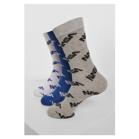 NASA Allover Socks 3-Pack Mister Tee