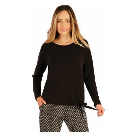 LITEX Mikina dámská s dlouhým rukávem 7A137901 černá