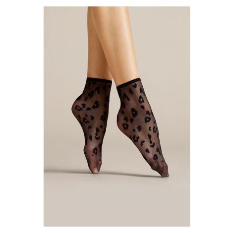 Dámské silonkové ponožky Fiore Doria 8 Den G1076 black uni