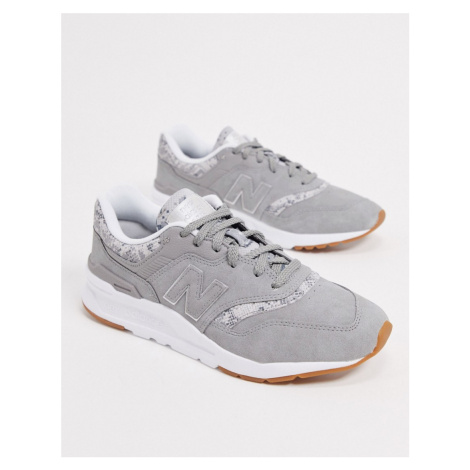 New Balance 997H animal print trainers in white