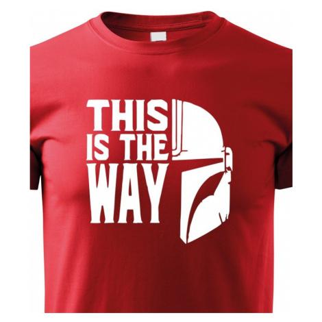 Dětské tričko ze seriálu Mandalorian - This is The Way BezvaTriko