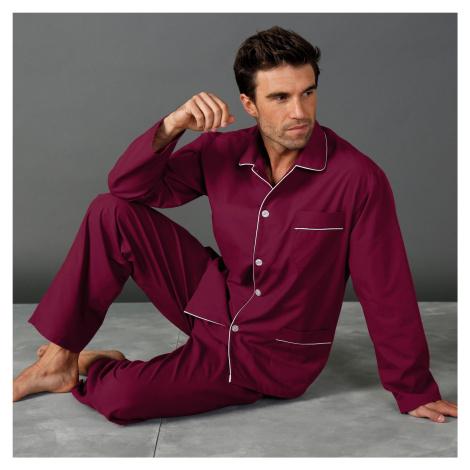 Blancheporte Klasické pyžamo bordó