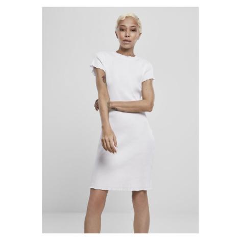 Ladies Rib Tee Dress - white Urban Classics