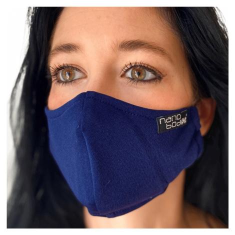 NANO rouška FIX AG-TIVE 10F 99,9% (2-vrstvá s kapsou, fixací nosu a 10 filtry) Modrá