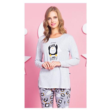 Dámské pyžamo dlouhé Tučňák Happy