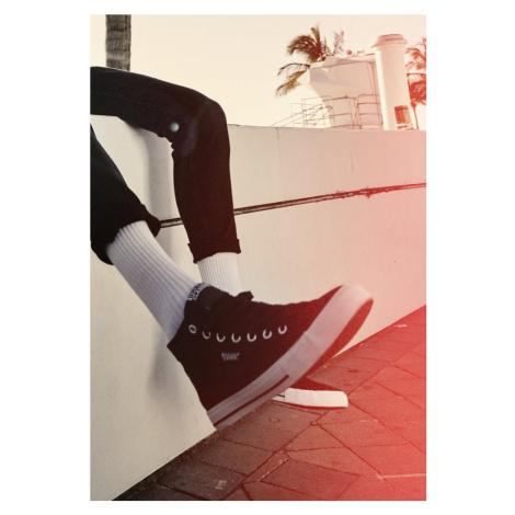 High Top Canvas Sneaker - black/white Urban Classics