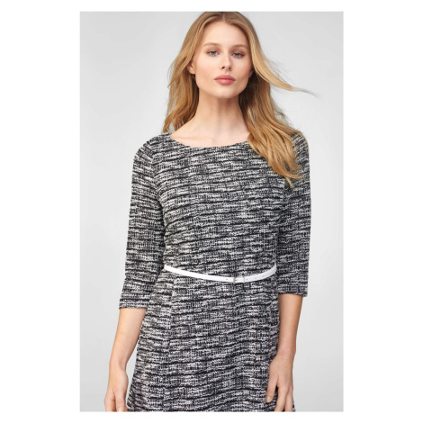 Tvídové šaty s opaskem Orsay