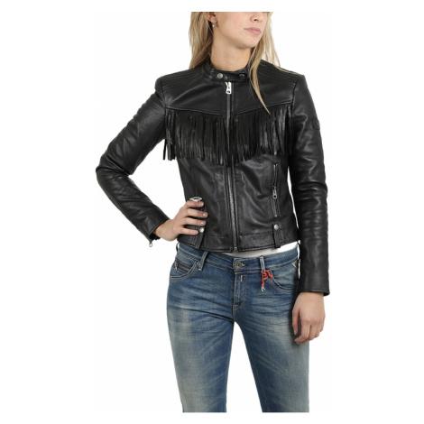 Černá zateplená kožená bunda REPLAY
