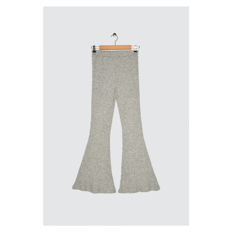 Trendyol Gray Flare Knitted Pants