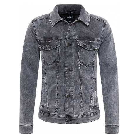 HOLLISTER Přechodná bunda šedá džínová