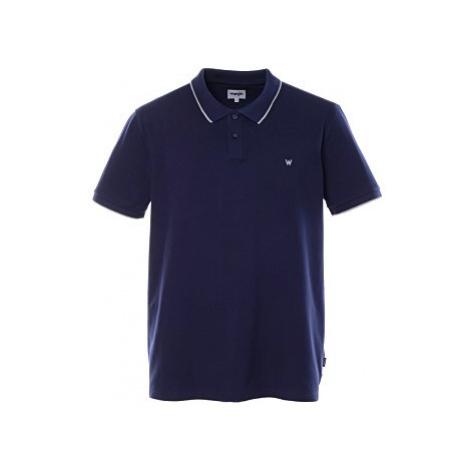 Polo triko Wrangler Pique Polo pánské tmavě modré
