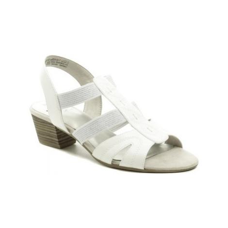 Jana 8-28267-24 bílé dámské sandály šíře H Bílá