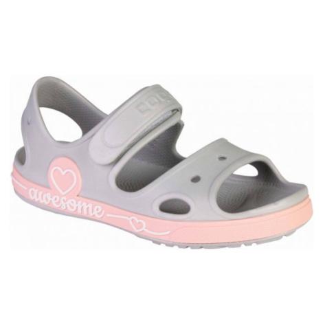 Coqui YOGI šedá - Dětské sandály
