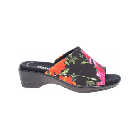 Gabor Dámské pantofle 46.070.27 schwarz-multic Černá