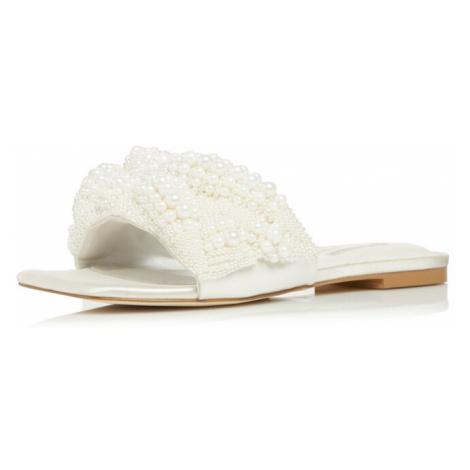 Dune LONDON Pantofle 'NOVALEE' bílá / perlově bílá