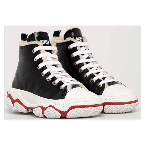 Černé kožené boty - RED VALENTINO