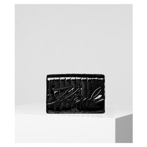 Kabelka Karl Lagerfeld K/Signature Croco Shoulderbag