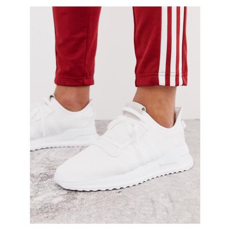 Adidas Originals U-path run trainers in triple white