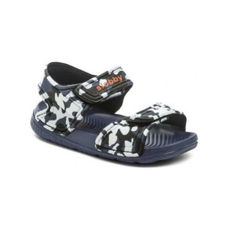 Cortina.be Slobby 191-0018-T1 modré sandálky Modrá