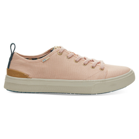 Coral Pink Canvas TRVL Lite Low Women Sneak Toms