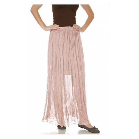 HEINE DÁMSKÁ MAXI SUKNĚ HEINE, sukně rosé