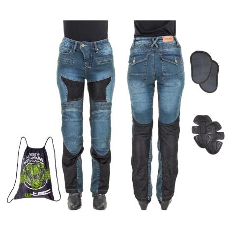 Dámské Moto Jeansy W-Tec Bolftyna Modro-Černá