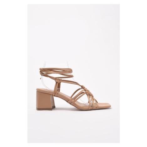 Trendyol Taba Tied Women's Classic Heeled Shoes