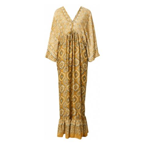 Mes Demoiselles Společenské šaty žlutá / modrá / zlatě žlutá