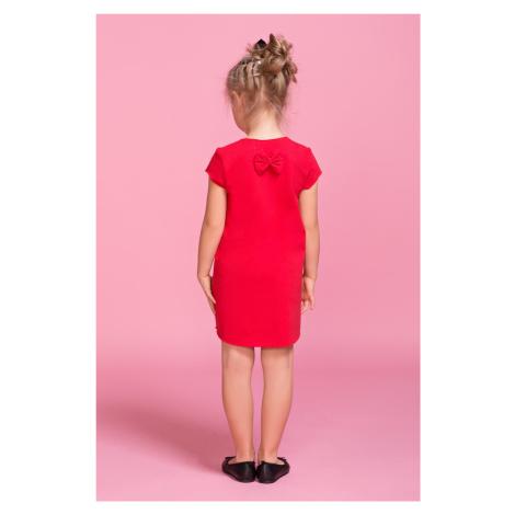 Dětské šaty s mašlí dívčí pro dcerku z měkké a příjemné pleteniny