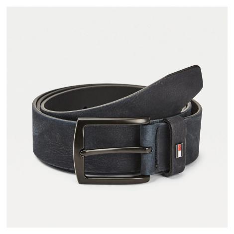 Tommy Hilfiger pánský modrý kožený pásek DENTON