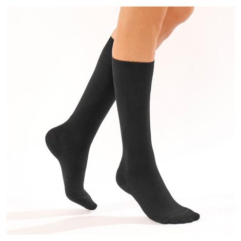 Blancheporte Podkolenky proti únavě, bavlna, 2 páry černá
