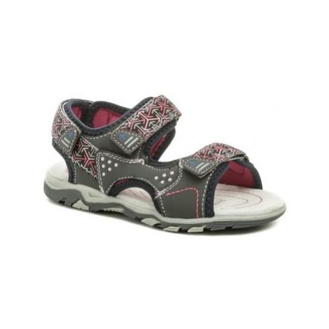 Wojtylko 3S2720 šedo růžové dívčí sandálky
