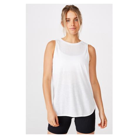 Sportovní top Active Curve bílá bílá Cotton On