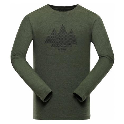 Pánské triko Alpine Pro GEN - tmavě zelená