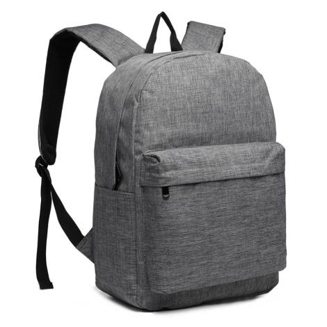 Šedý praktický studentský batoh Aksah Lulu Bags
