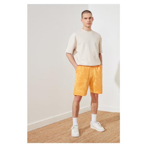 Trendyol Mustard Men's Regular Fit Batik Shorts & Bermuda