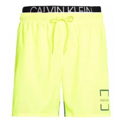 Pánské plavky Calvin Klein KM00436 neon žlutá | žlutá