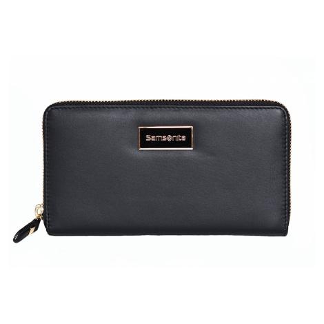 Samsonite Dámská peněženka Karissa Lth SLG kožená psaníčko černá, 19 x 2 x 10 (88284/1041)