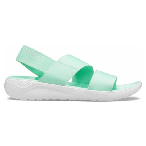 Crocs LiteRide Stretch Sandal W Neo Mint/Almost White W8