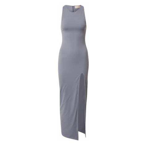 CLUB L LONDON Šaty stříbrně šedá