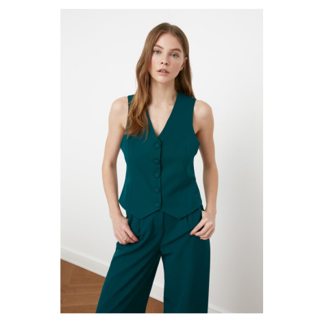 Trendyol Green Button Vest