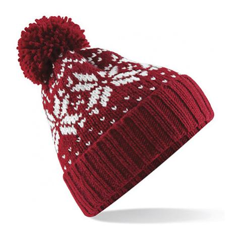 Zimní čepice Snowstar - červenobílá Beechfield