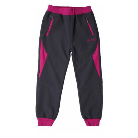 Dívčí softshellové kalhoty - Wolf B2181, tmavě šedá