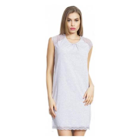 Dámská noční košile Vienetta Secret Mia | světle šedá