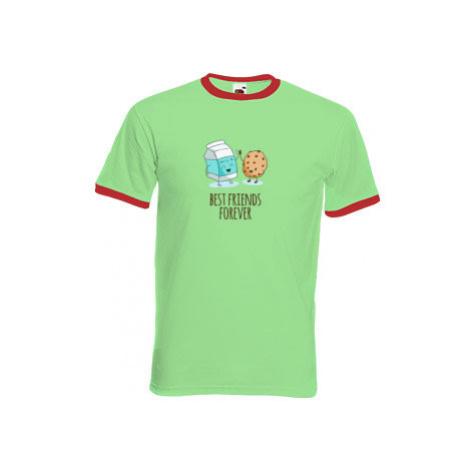 Pánské tričko s kontrastními lemy Best friends forever