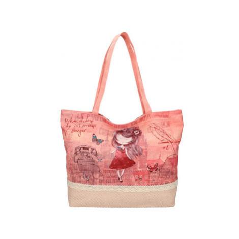 Sweet Candy Velká plážová taška s potiskem M4 Červená